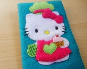 iphone case- ipod touch case - cell phone - ipod - Hello kitty cooking felt case
