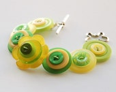 Lemon and Lime Button Bracelet