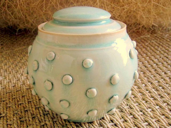 Ceramic Button Covered Lidded Jar