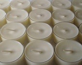 48 Unscented Dye Free Soy Wax Clear Cup Tea Lights