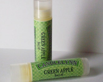 Green Apple Lip Balm by Candle Lynn - Made with Organic Shea and Cocoa Butters