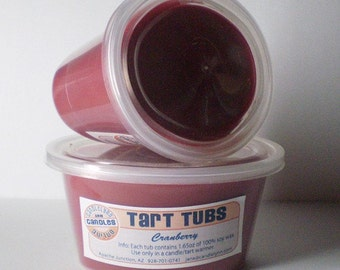 Two Large Soy Tart Tubs - CRANBERRY