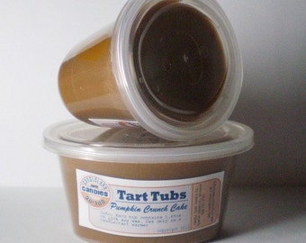 Two Large Soy Tart Tubs - PUMPKIN CRUNCH CAKE