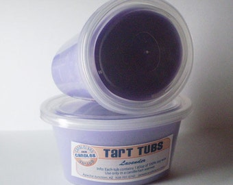 Two Large Soy Tart Tubs - LAVENDER