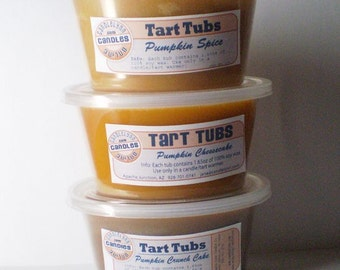 3 Large Soy TART Tubs - PUMPKIN scent pack - 3 different pumpkin scents
