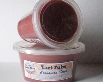 Two Large Soy Tart Tubs - CINNAMON STICK