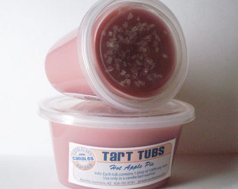 Two Large Soy Tart Tubs - HOT APPLE PIE