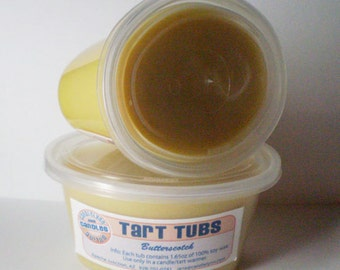 Two Large Soy Tart Tubs - BUTTERSCOTCH