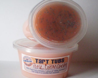 Two Large Soy Tart Tubs - PINK COTTON CANDY