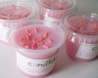 6 Soy Wax Tart Littles - RASPBERRY CREAM