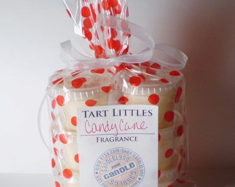6 Soy Wax TART LITTLES - Candy Cane
