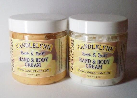 ORANGE CREAM CUPCAKE Whipped Hand & Body Cream - 4 oz - Dye Free