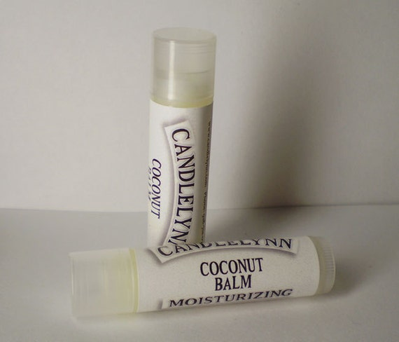 Coconut Lip Balm by Candle Lynn - Made with Organic Shea and Cocoa Butters