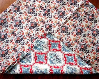 PILLOW CASE Sham Very Vintage Antique Slip Cover Old Authentic FEEDSACK Print Pouch Bag