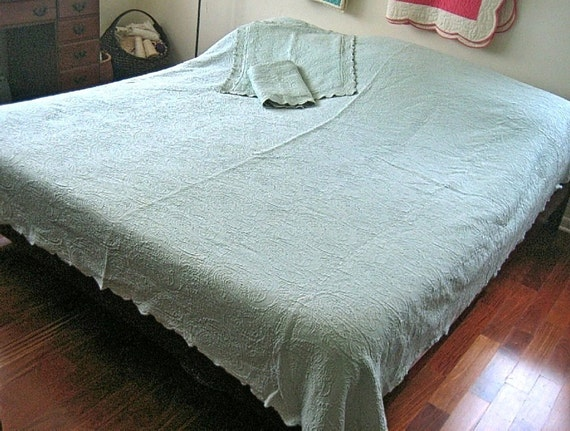 Quilt Bedspread Coverlet Cotton Matelasse By