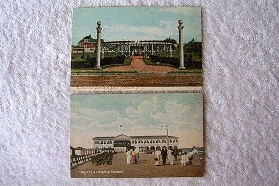 Vintage postcard set Landscape Cityscape People EARLY CENTURY Souvenir Nostalgic panorama vista post card PRINT
