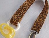 Leopard Pacifier Clip