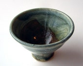 Small Asian Style Tea Cup - Greys Blues Browns - 2 oz