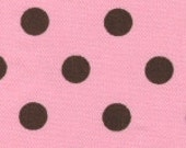 Premium Brown Dots on Pink Twill Fabric Finders
