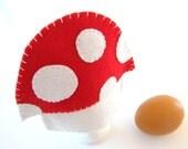 All Wool Egg Cosy, Mushroom