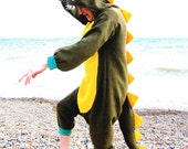 Dapper Dinosaur Onesie - all-in-one dinosaur fancy dress animal costume