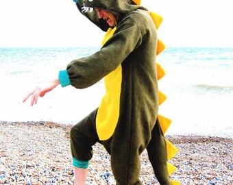 Dapper Dinosaur Onesie - all-in-one dinosaur fancy dress animal costume