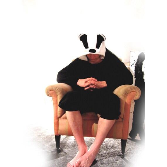 Badger onesie - full size animal costume