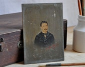RESERVED miniature french portrait
