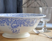 RESERVED antique french serving bowl