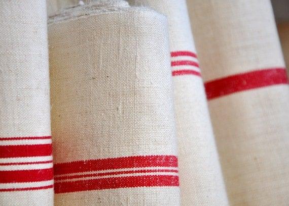 vintage french towel yardage