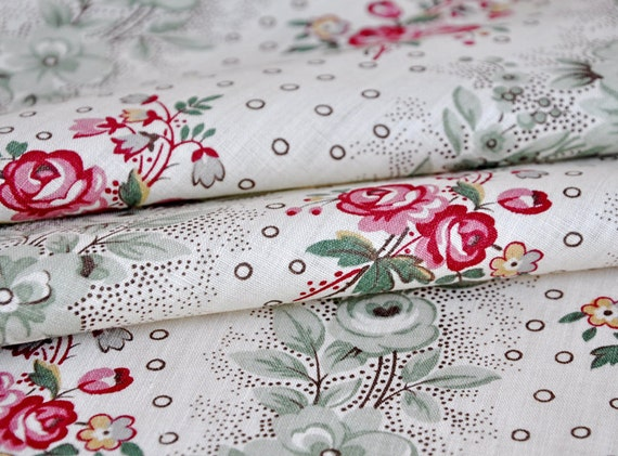 1930s french floral fabric