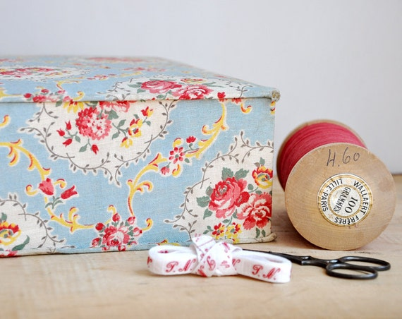 vintage french sewing box