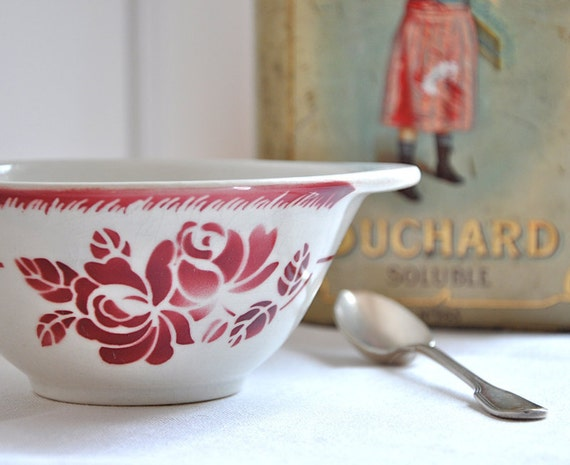 RESERVED vintage french bowl with handles
