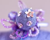 Felted Cocktail Ring Lilac Lavender