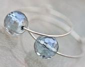 Custom order for blue quartz earrings and white keshi earrings