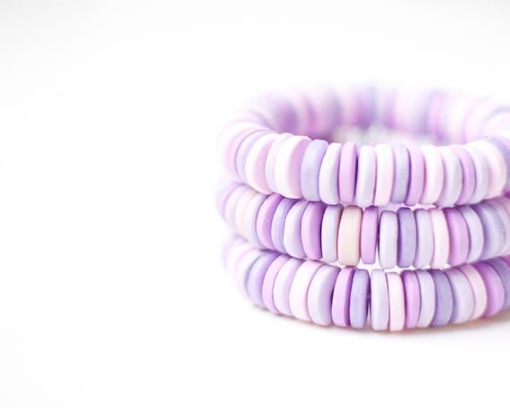 Bracelet Pastel Multicolor Purple Lilac Lavender Cuff geometric fall fashion tbteam free shipping