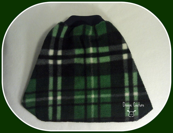 Cozy Green and Navy Plaid Cozy Fleece Dog Shirt Clothes Size xxxs through medium