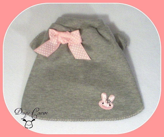 BITTY BUNNY Dog Shirt Clothes Size XXSmall