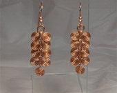 Handmade Copper Wire Double Spiral Dangle Earrings
