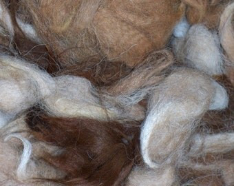 Washed Alpaca Fiber, Stuffing, Felting, Raw Fiber, Seconds, 16 Ounces
