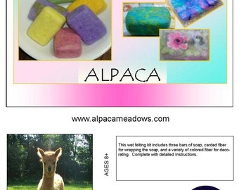 Felted Soap Kit, Alpaca Felted Soap, Soap Felting Kit, DIY