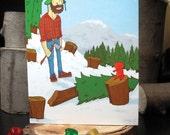 12 pack Lumberjack greeting cards