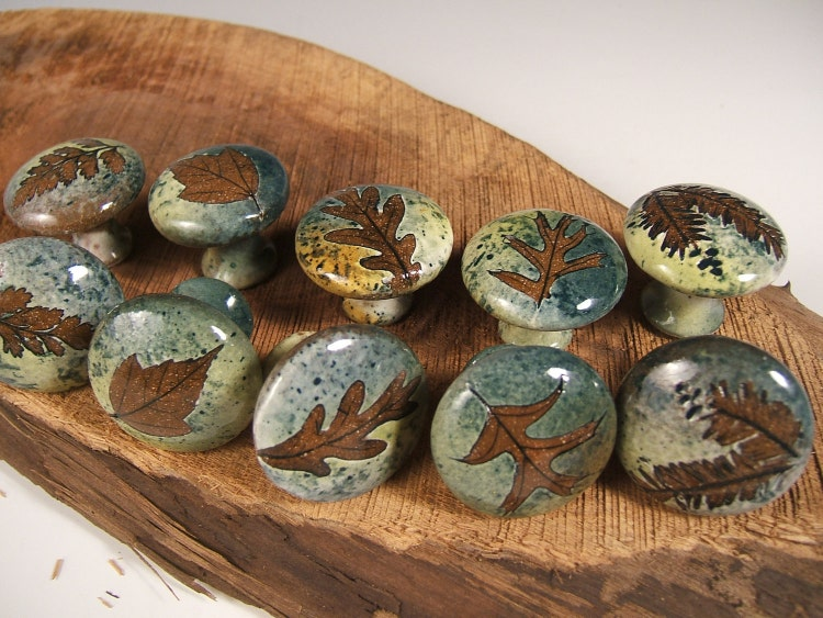 10 Cabinet Knobs Drawer Pulls Rustic Home Decor By