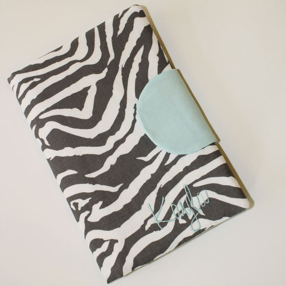 Personalized Zebra Cover - New Kindle, Nook , Nook Simple Touch, Nook Color, or Kobo, eReader  Cover