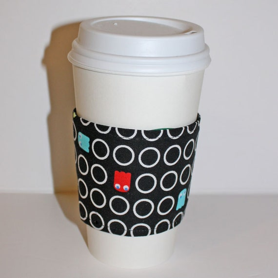 PacMan Reusable Coffee Sleeve