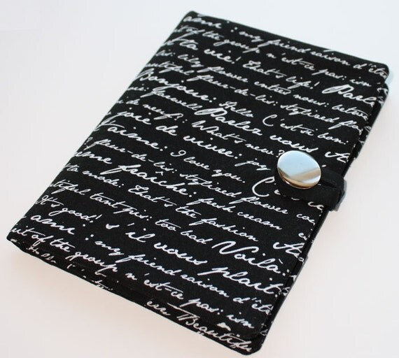 French Script - Kindle Touch- Ready to Ship