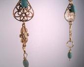 Upcycled Skinny Dangle Earrings