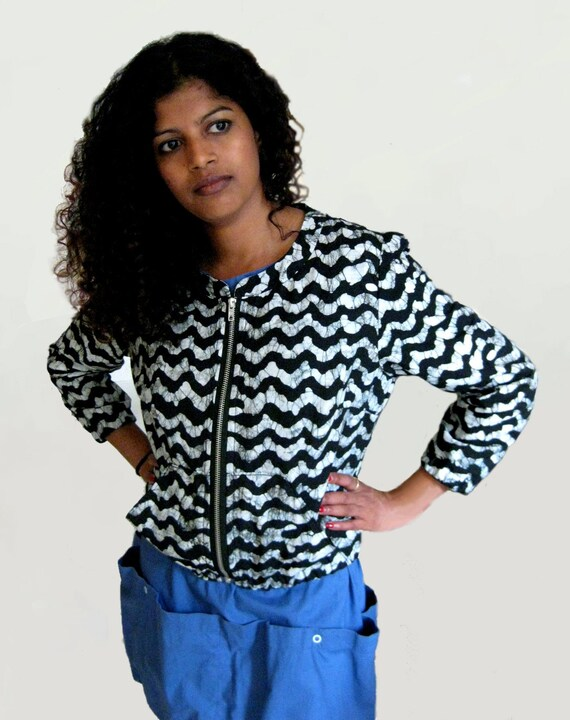 fall bomber jacket indian fabric