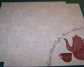 Scrapbooking - 12 X 12 Paper - Coffee - Espresso - 2 sheets