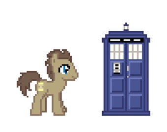 Doctor Whooves (My Little Pony: Friendship Is Magic) - Cross Stitch Pattern